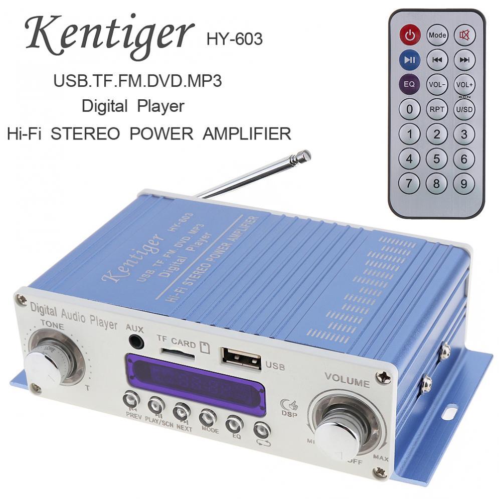 Kentiger-REPRODUCTOR de Audio Digital DC 12V HI-FI para coche, amplificador de Radio...