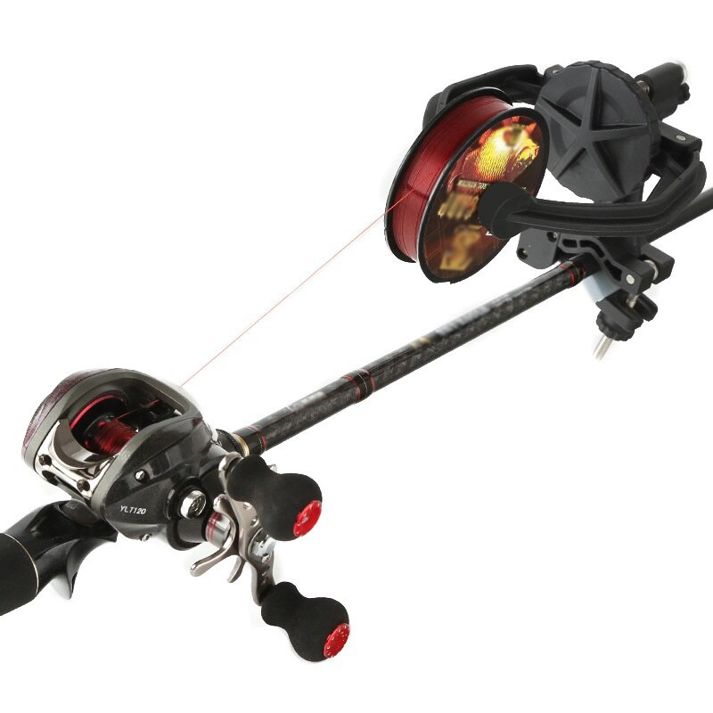 Fishing Line Spooler Winder Portable Reel Spool Station System for Spinning or Baitcasting Fishing Reel Line