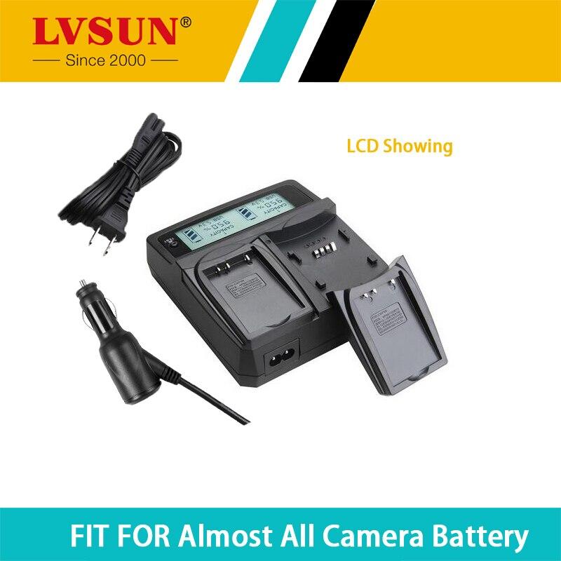 LVSUN BLS 1 BLS1 BLS-1 batería dual coche + cargador de viaje para OLYMPUS E-PL1 E400 E410 E420 E450 E-600 E620 E-P1 E-PL3 pantalla LCD