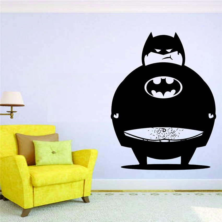 Batman grasa de la pared Decoración Adhesivos pegatinas bromista divertido U302