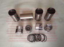 4L22B Piston + Cylinder liner (Cylinder sleeve) + Piston ring, Laidong diesel engine parts, 4L22B