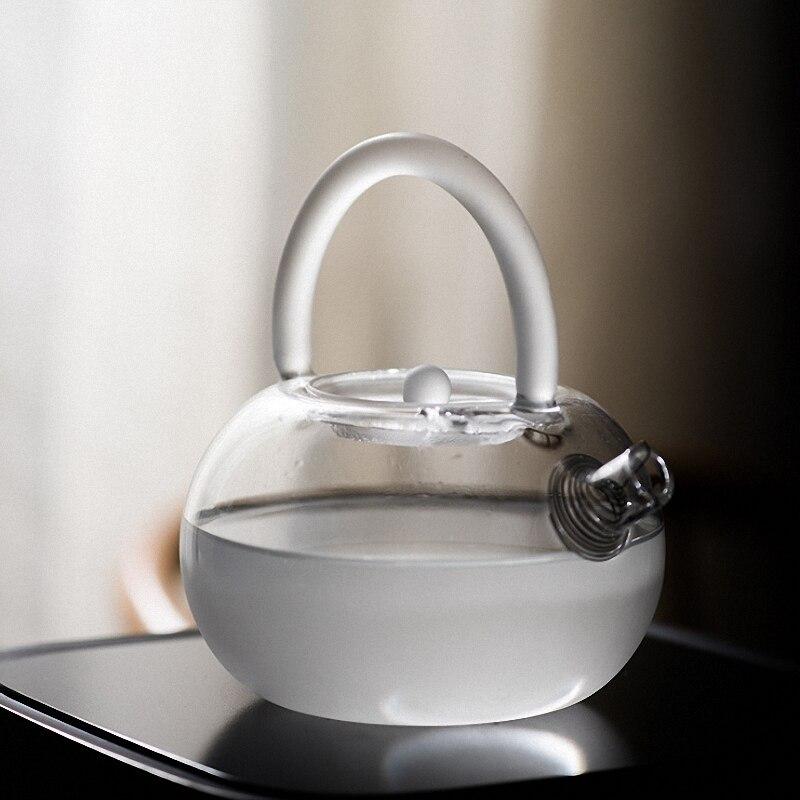 بينني-إبريق شاي زجاجي بلوري مقاوم للحرارة ، إبريق شاي زجاجي مقاوم للحرارة ، غلاية شاي عالية الجودة مع موقد كهربائي من السيراميك