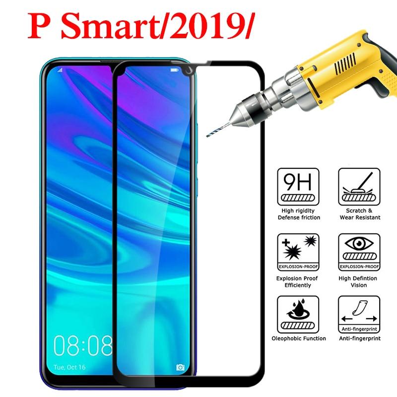 Vidrio en el para Huawei P Smart 2019 vidrio templado PSmart 2019 POT-LX3 POT-LX1 de vidrio protector huawey hauwei huavei película de la cubierta