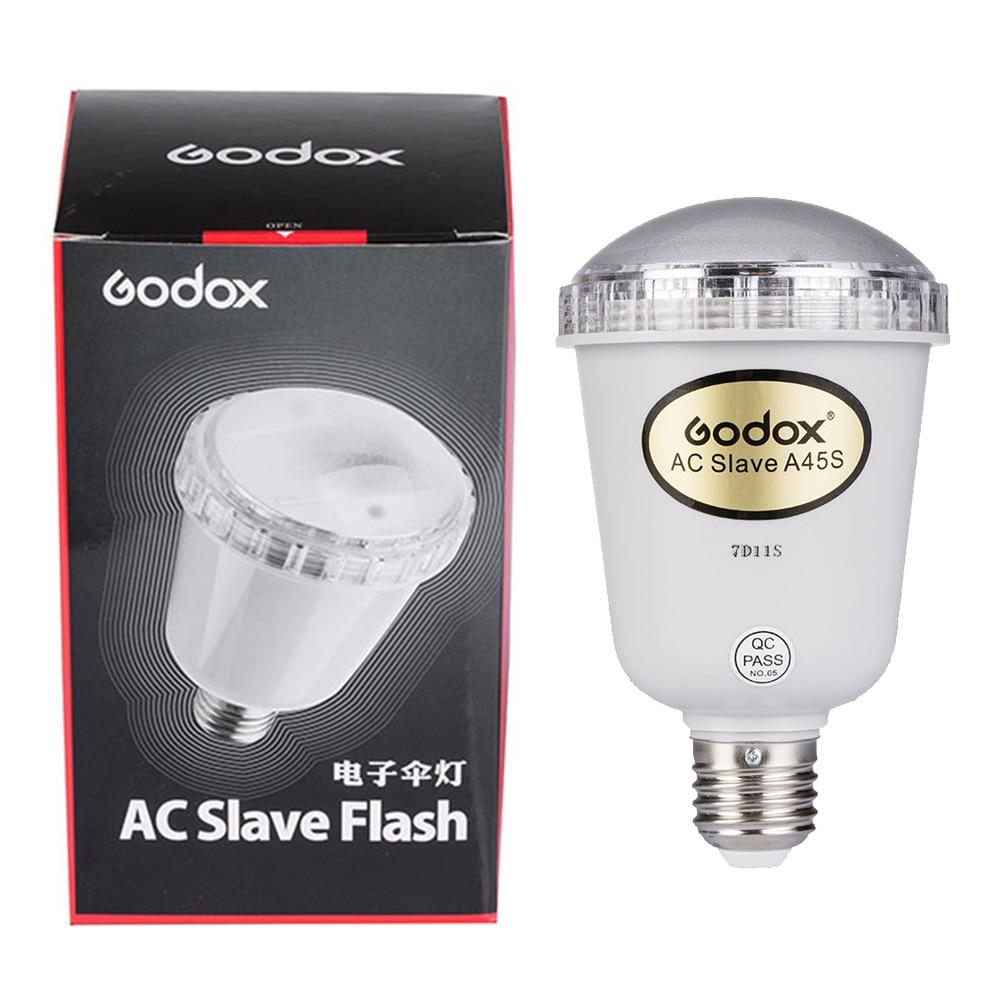 Godox A45s Photo studio elektronischen blinklicht Foto Studio Strobe Light AC Slave Flash-birne Für E27 220 V
