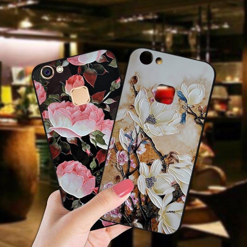 ShuiCaoRen, funda de silicona de lujo para VIVO V7 Plus/Y79, bonita flor, bolso de funda de teléfono TPU para VIVO V7 / Y69 Y75, fundas