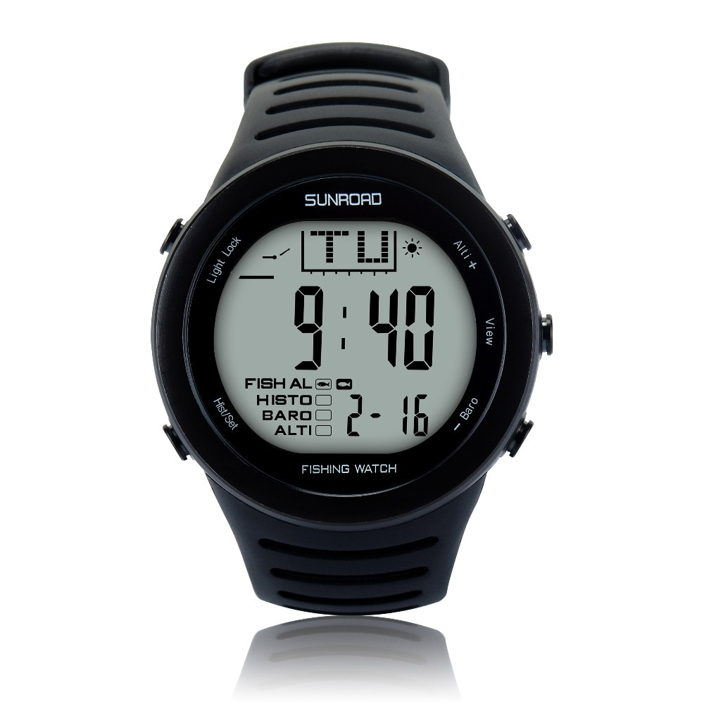 SUNROAD 2021 New Arrival Men's Digital Fishing Sports Watch with Barometer Altimeter Stopwatch Hiking Swmming Wristwatches