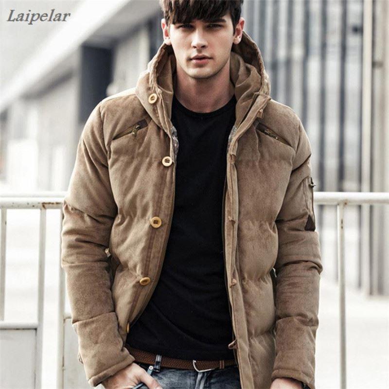 Новая зимняя плотная Вельветовая куртка с капюшоном, мужские мягкие зимние куртки, мужские зимние пальто больших размеров 3XL Laipelar