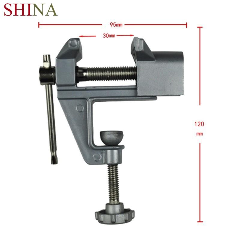 Mini de alta calidad de Vicepresidente Banco aleación de aluminio tornillo Bench Vise para DIY Universal Craft molde fijo de herramienta de la reparación de la máquina de herramientas