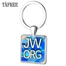 """TAFREE JW. Org Quadrat Keychain """"Keine BLUT"""" Jehovah der Zeugen Glas Foto Cabochon Anhänger Handgemachte Schlüsselring QF41"""