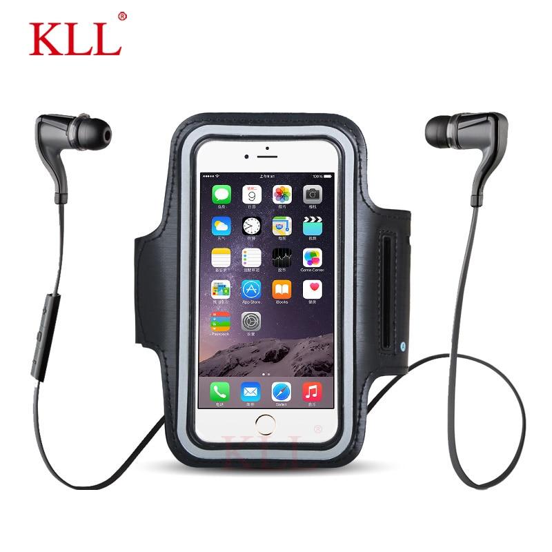 KLL wodoodporny Brassard Running Gym Sport opaska na ramię etui na telefon komórkowy opaska na ramię uchwyt na iPhone Smartphone na rękę