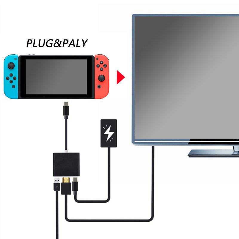 HDMI tipo C adaptador para Nintend Hub Switch USB-C a HDMI Mini estación de muelle HD de transferencia para el ordenador portátil MacBook Xiaomi Samsung teléfono