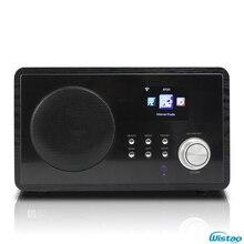 WIFI Radio Internet Web FM Radios 5W RMS Color Screen Power Adaptor Supply Clock and Alarm Wooden Casing