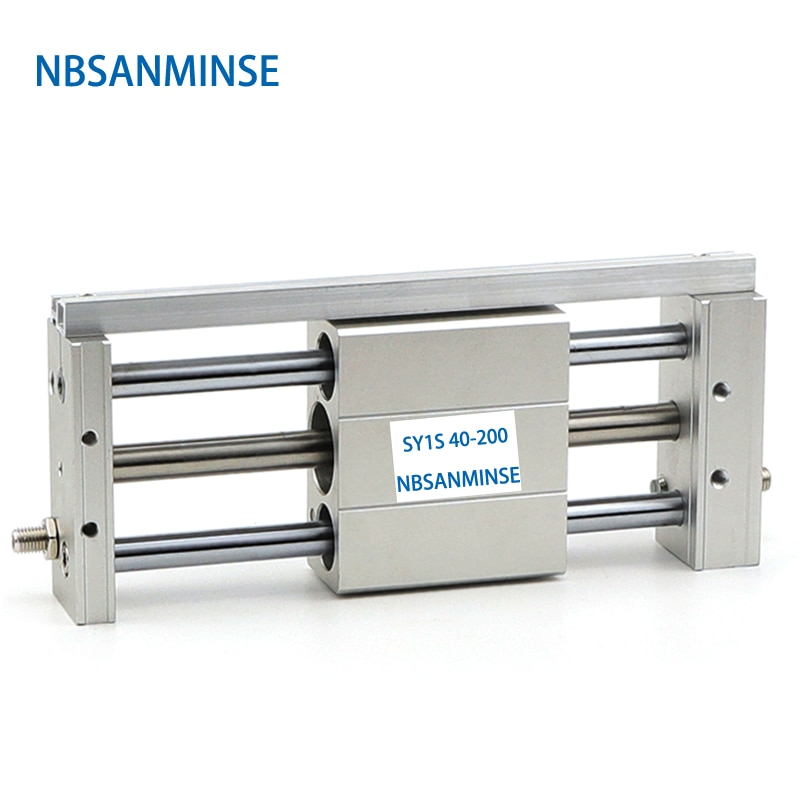 Sanmin-اسطوانة هوائية من نوع الشريحة CY1S 40 مللي متر ، ضغط مغناطيسي SMC ، أجزاء هواء مزدوجة بدون قضيب