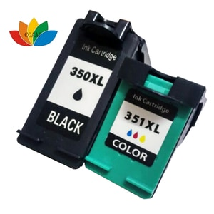 Refilled INK CARTRIDGE FOR HP 350 351 XL 2-Pack HIGH YIELD COMPATIBLE C4480 C4280 C4580 J5780 J5730 PRINTER