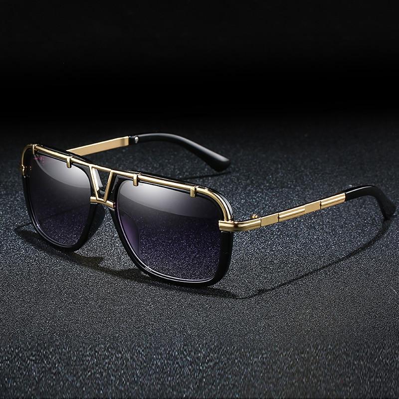 Модные мужские солнцезащитные очки, роскошные женские мужские солнцезащитные очки, большие солнцезащитные очки, очки для вождения, зеркаль...