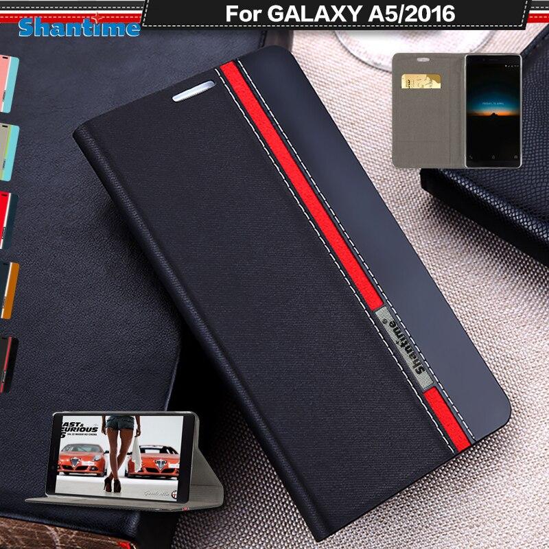 Para Samsung Galaxy A5 2016 do Caso Da Aleta Telefone Estojo de couro Pu Para Samsung Galaxy A510 Business Case Tpu Silicone Macio tampa traseira