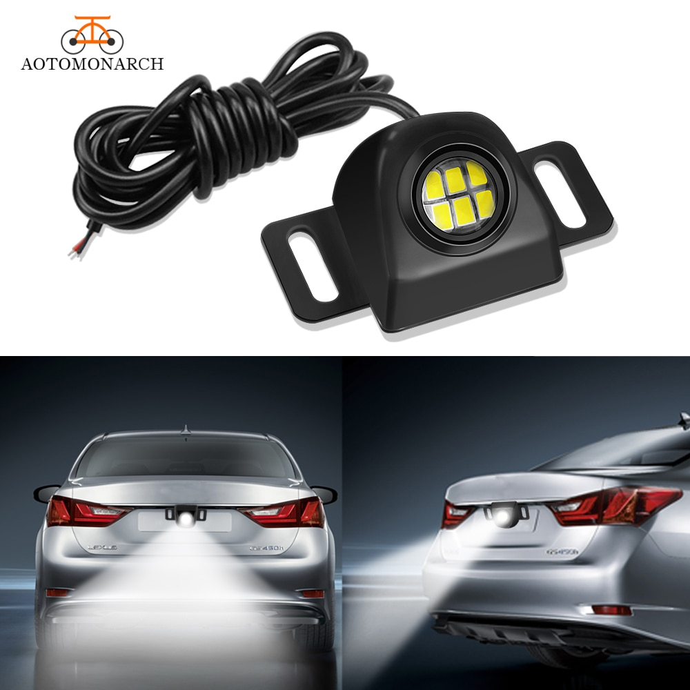AOTOMONARCH Mini Auxiliary Reverse Light Bulb LED backup Camera Illumination System Waterproof Car Styling Accessories 6000K EJ