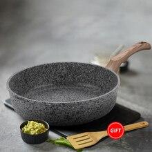 Sartén de cocina sin tapa, sartén antiadherente con revestimiento derivado de piedra, Apto para lavavajillas, cocina de inducción, sartén segura