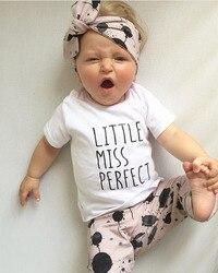 3 pçs do bebê meninas roupas conjunto de manga longa carta camiseta + balão imprimir calças bandana infantil roupas recém-nascidos terno da criança outfit