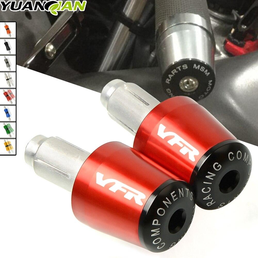 For HONDA VFR800 VFR 800 Motorcycle CNC 7/8'' 22MM Handlebar Grips Handle Bar Cap End Plugs For HONDA VFR 750 800 1200F