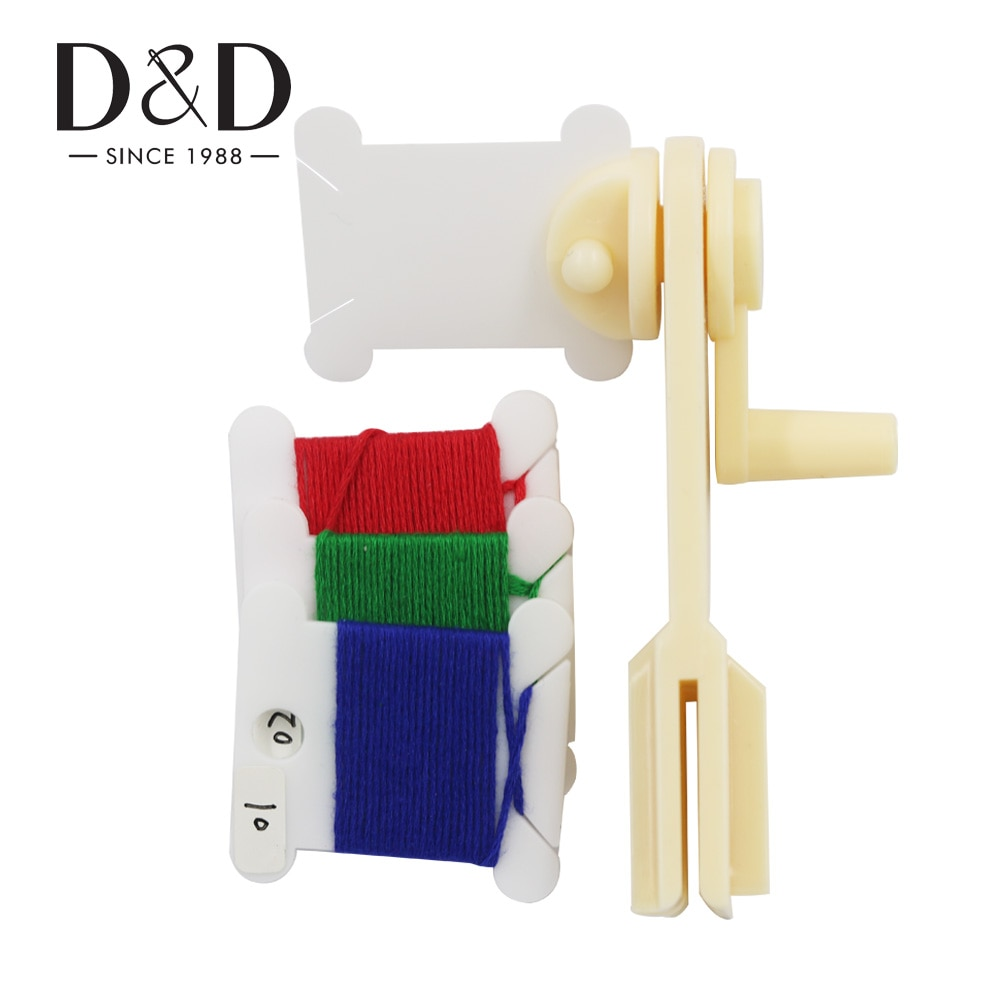 Plastic Thread Bobbins Spool Thread Card&String Winder for Cross Stitch Embroidery Floss Craft Storage Holder  DIY Sewing Tools
