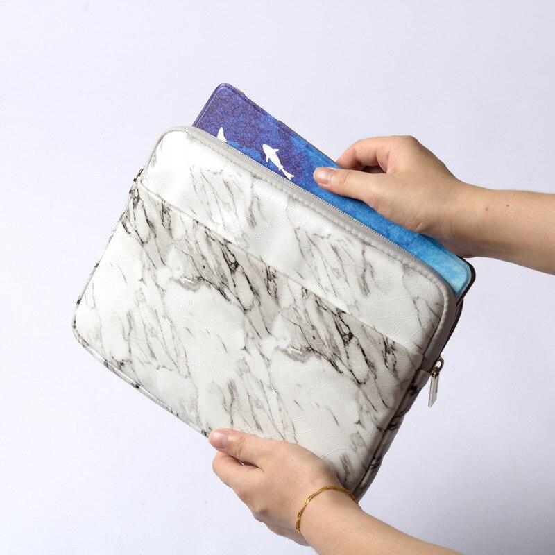 Mármore branco para ipad 10.2 2019 caso tablet manga saco para funda ipad 9.7 2018 ar 2/1 pro 10.5 pro 11 mini capa para + caneta