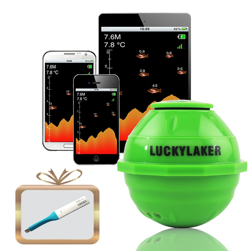 Echo sounder findfish Wi-Fi Wireless Fishing finder with Rechargeable Lithium Battery Android/IOS Fishfinder for fishing Alarm enlarge