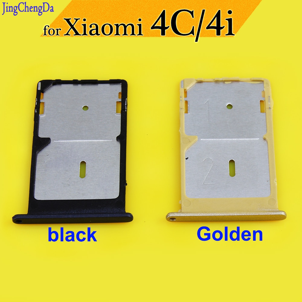 JCD New SIM card slot tray for xiaomi 4C/4i SIM Tray Sim Card Holder Slot for Xiaomi 4i sim card slot black/golden single sim card tray holder slot for samsung galaxy s6 g920 sim card holder slot tray container adapter golden silvery gray