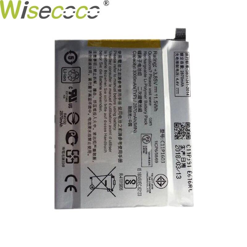 Nueva batería WISECOCO 2870 mAh C11P1603 para ASUS Zenfone 3 Zenfone3 ZS550 M630 Deluxe 5,7 pulgadas Z016D ZS570KL teléfono móvil