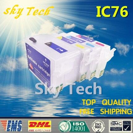 76L IC76 فارغة إعادة الملء خراطيش الحبر ل ICBK76 - ICY76 دعوى لإبسون PX-M5040F PX-S5040 PX-M5041F ، مع رقائق ARC