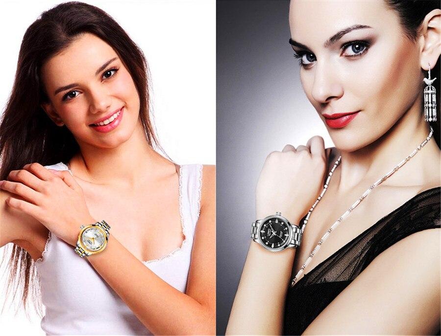 LOREO Sapphire Women Fashion Automatic Mechanical Watch Lady Leather Watchband High Quality Casual Waterproof Wristwatch Gift enlarge