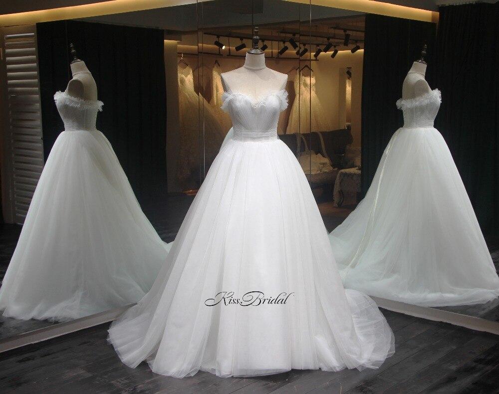 Recién llegado 2020 vestidos de novia Sweetheart Ruched corpiño vestido de tul para Bodas de lujo Catedral tren vestidos de novia