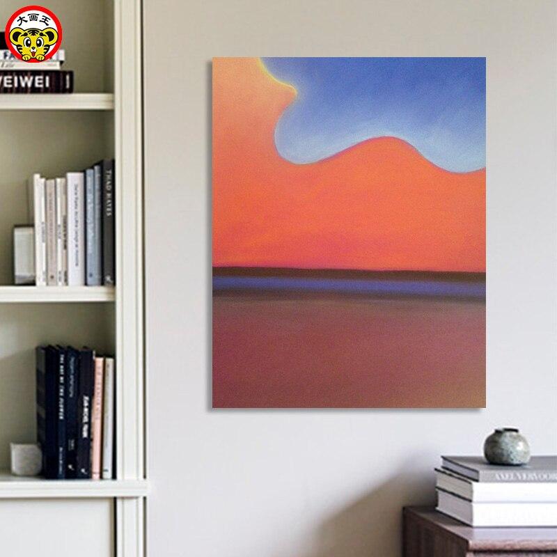 Pintura por números pintura por número imagen grande Rey DIY pintura digital moderna minimalista abstracta naranja nube living roo