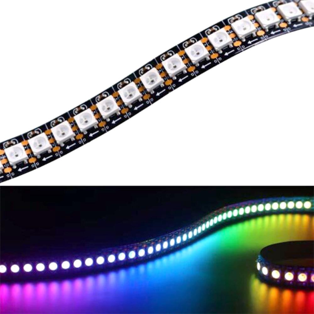 DC5V WS2812B 30/60/74/96/144 píxeles/leds/m Luz de tira de píxeles LED inteligente negro/blanco PCB WS2812 IC IP30/IP65/IP67 1 m/4 m/5 m