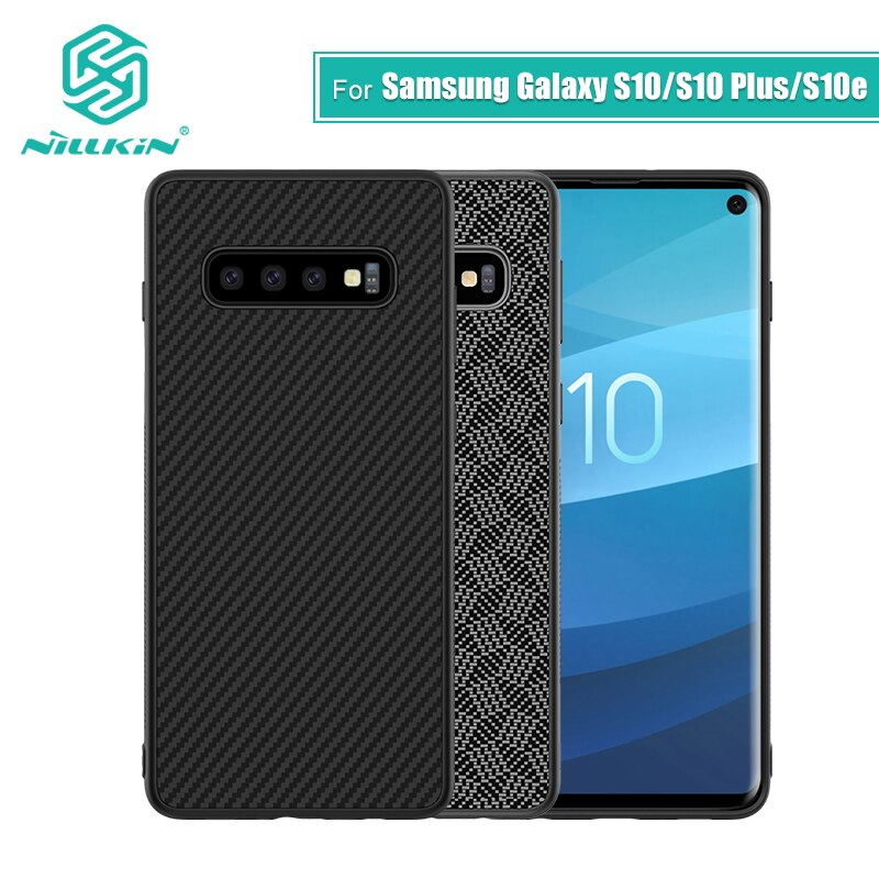 Nillkin синтетическая углеродная ПП Пластиковая Задняя крышка для Samsung Galaxy S10 чехол 5,8 тонкий для Galaxy S10 Plus/S10e чехол 6,1