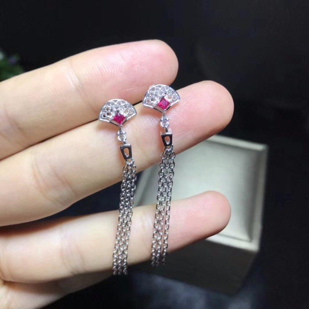 Natural ruby earrings, 925 silver, vintage design, 925 sterling silver, ladies earrings