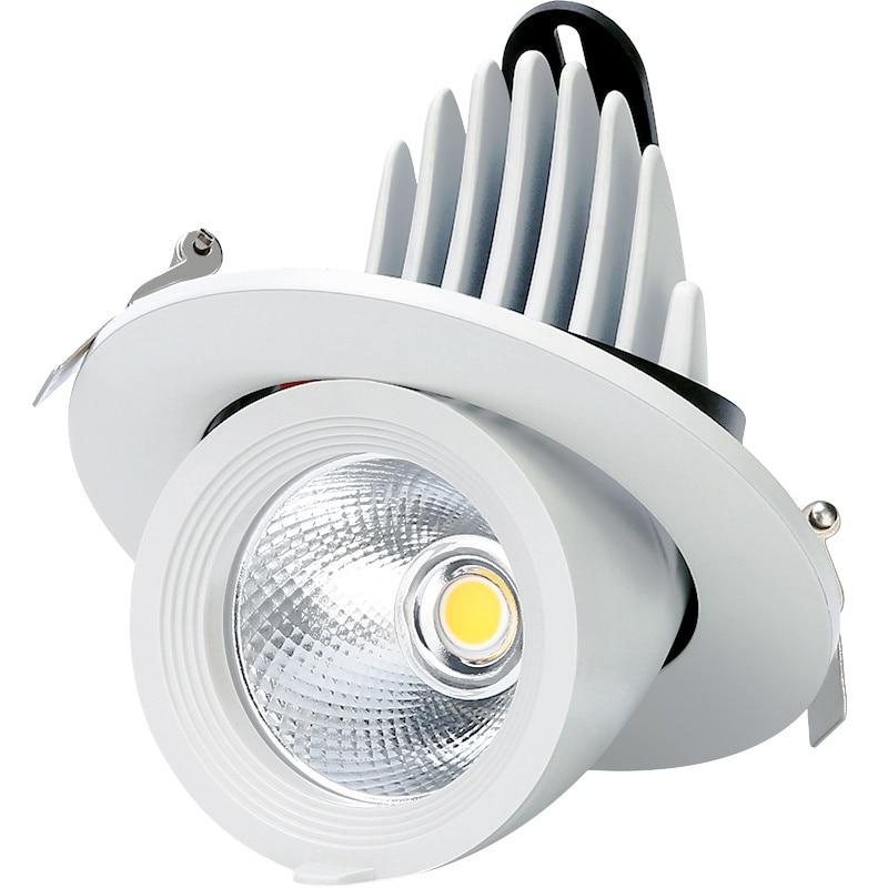 1 ud. regulable LED downlight 10 W 25 W 30 W 360 grados punto de luz led blanco cálido blanco natural luz descendente blanca fría del maletero AC85-260V