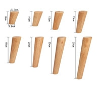 4/6pcs 12cm Furniture Legs Oak Solid Wood Sofa Tea Cabinet Foot Nordic style Coffee Table Feet Furniture Parts