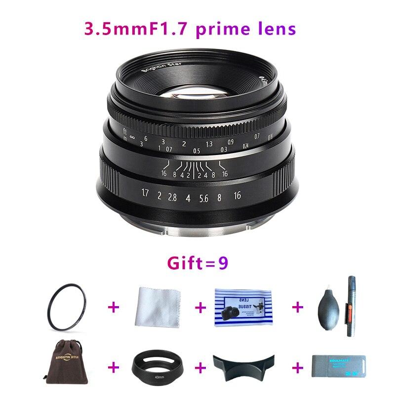 ¡Brightin estrella 35mmF1! 7 lentes de gran apertura para e-mount, Canon EOS-M, FX, M4/3, A7, A7II, A7R, A7RII, A7S, A7SII, M6, M5, M50, M100, NEX