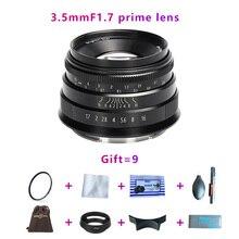 Étoile de brightin 35mmF1. objectif 7 à grande ouverture pour monture électronique, Canon EOS-M, FX, M4/3, A7, A7II, A7R, A7RII, A7S, A7SII, M6, M5, M50, M100, NEX