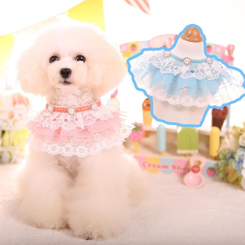 Laço bonito pequeno cão neckerchief colar cachecol gato do cão pet bib bandana colar do cão gravata acessórios de casamento do cão