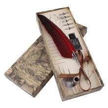 2020 anglais calligraphie plume Dip stylo écriture encre ensemble papeterie cadeau boîte avec 5 plume cadeau de mariage Quill stylo plume nouveau