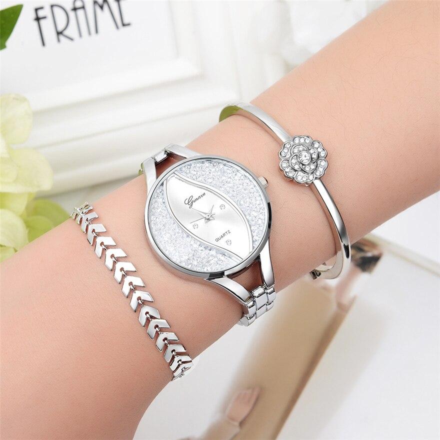 2019 Fashion Rhinestone Women's Watches Luxury Brand Bracelet Ladies Quartz Dress Watches reloj mujer Watches Suit Women Clock enlarge