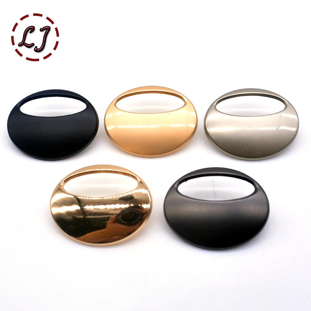 Новая модная швейная кнопка, 10 шт./лот, кнопки, матовые, золотые, полые, овальные, плоские, металлические кнопки, футболка, костюм, накладные кнопки, сделай сам