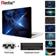 Redlai 2020 Air 13 A2179 etui na laptopa przezroczysta twarda skorupa pokrywa dla MacBook Air Pro Retina 11 12 13 15 16 cali A2141 A2159 A1932