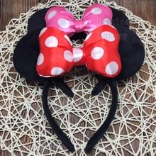 Bandeau serre-tête Minnie Mouse   Grand bandeau, accessoires pour cheveux, mignon, pour fête de noël Halloween, pour voyage, pour enfants, nouvelle collection