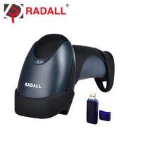 RD-M2 Portable Laser Wireless Barcode Scanner Reader USB 1D 32Bit 433MHz 256KB Flash Memory 3000 Bar Codes for Windows/Linux