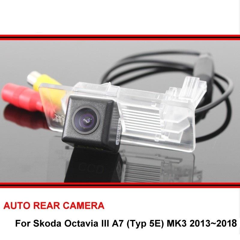 Камера заднего вида HD CCD для Skoda Octavia III A7 Typ 5E MK3 2013 ~ 2018, камера ночного видения, парковочная камера trasera