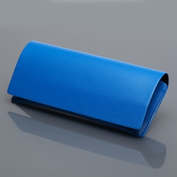 Simples macio couro do plutônio óculos de sol caso cor sólida óculos de sol caixa magnética saco retângulo portátil carteira pequena embreagem