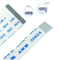 Câble plat Flexible FPC FFC 0.5MM 300MM A B type 4P 5P 6P 8P 10P 12P 14P 16P 18P 20P 22P 24P 26P 28P 30P 32P-60P 30cm Connecteur